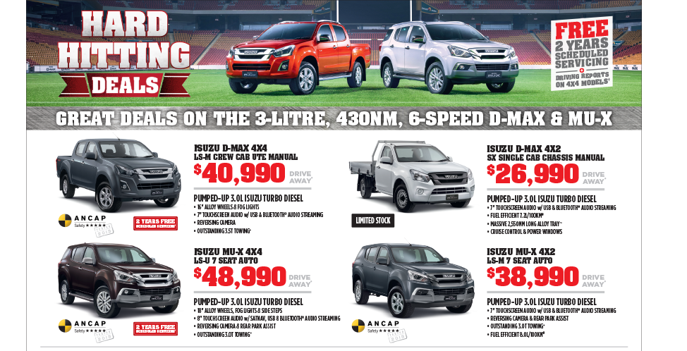 Isuzu Ute Hard Hitting Deals