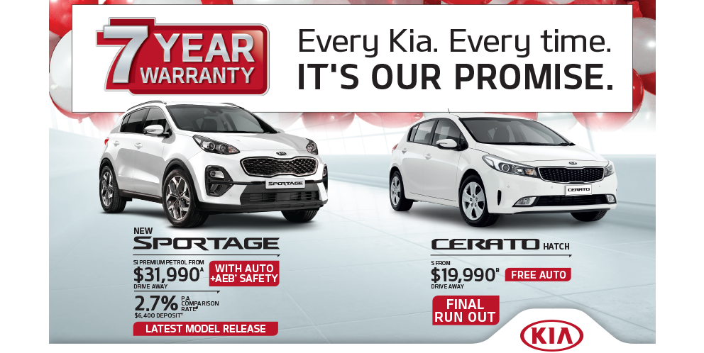 Every Kia. Every time. It's our promise